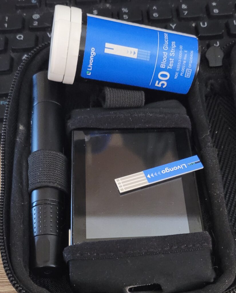 Glucometer and test strips